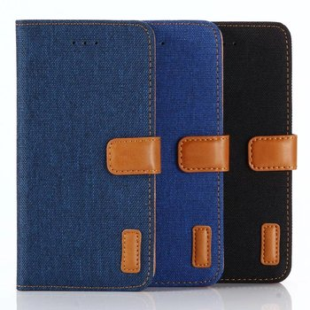 Denim wallet phone case for iPhone 8 Card Slot Wallet for iPhone 8