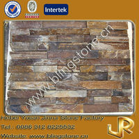 Natural rusty slate stone covers for exterior walls