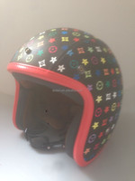 motorcycle open face helmet vintage helmet leather helmet bell DOT, CE, ECE