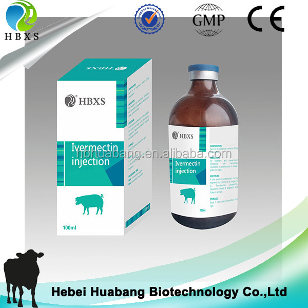 Diarrhea Pig Medicine 10ml 50ml 100ml 1% Ivomec Ivermectin Injection