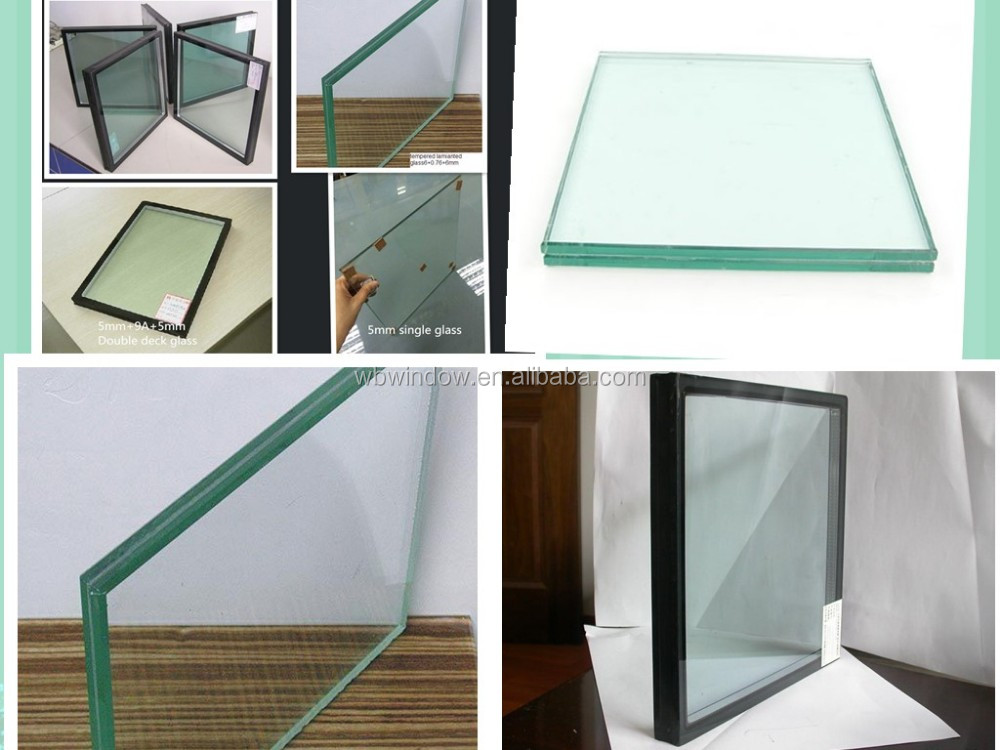 Double glass plastic/PVC casement window Vinyl window with internal blind