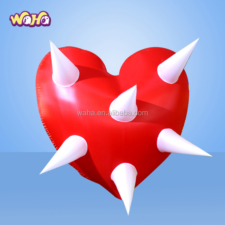Red love heart shape balloon with arrow special Design inflatable
