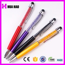 Alibaba china pens for advertising crystal touch stylus metal pen crystal ball pen
