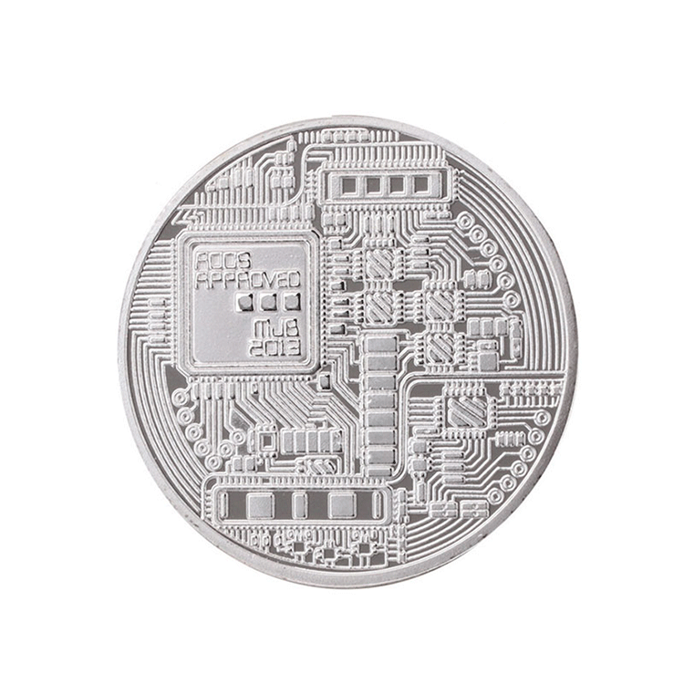 Shuanghua hot sale promotional stamping silver bitcoin style gold make your own metal coins