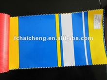 Stripe waterproof PVC Tarpaulin fabric ,cover and tent,Polyester Fabric