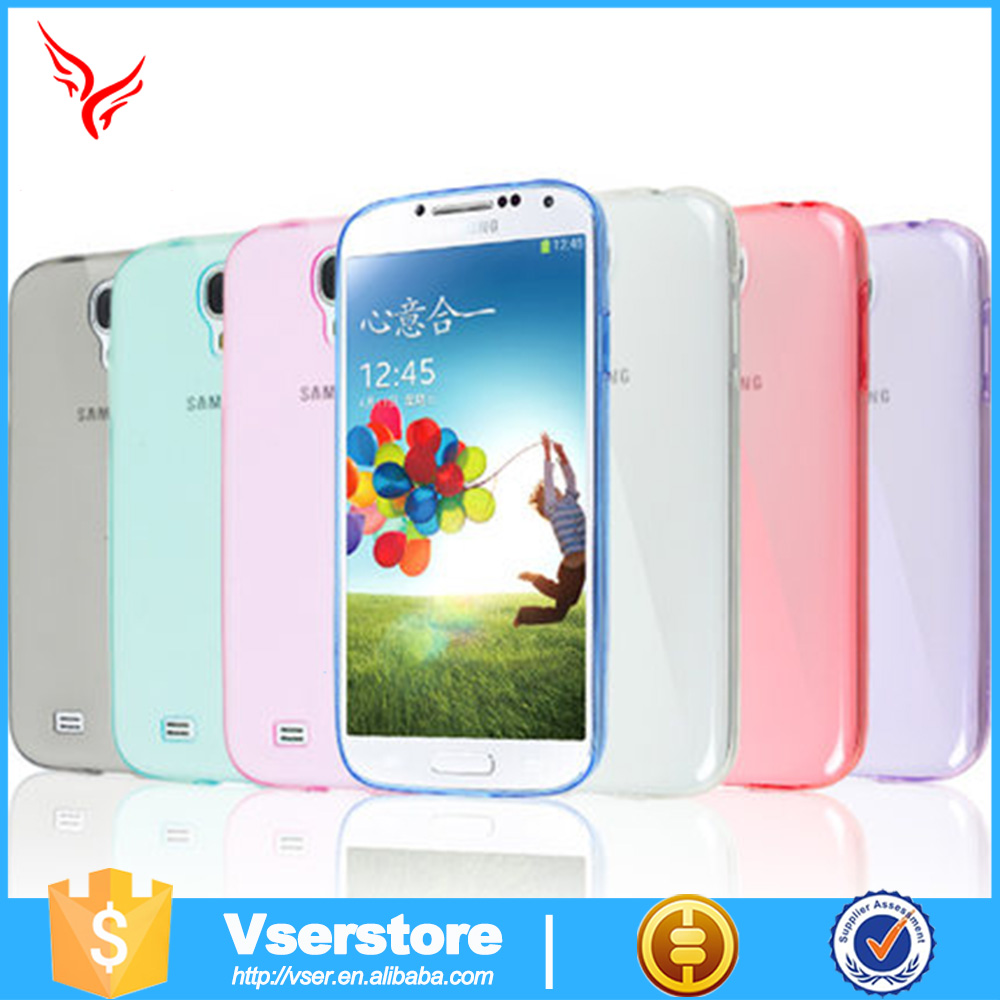 Transparent case for Samsung Galaxy S4 I9500 TPU case Mobile phones shell for S4