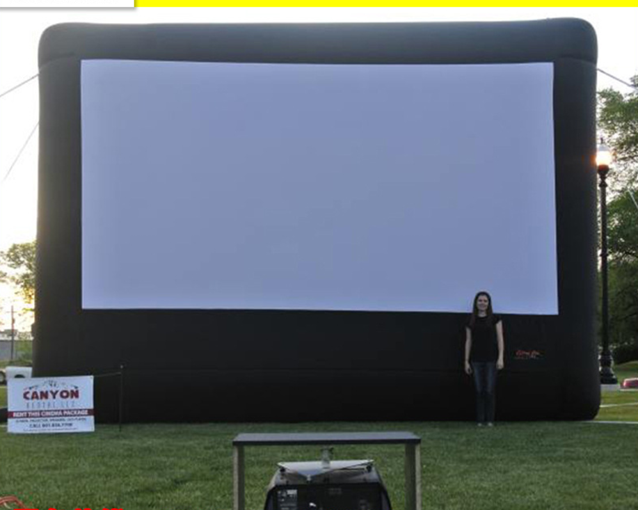 Used Inflatable movie screen, inflatable rear projection screen, outdoor inflatable screen