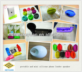phone protable silicone mini loud speaker