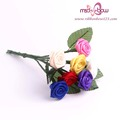 Polyester satin ribbon roses