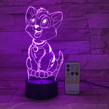 USB LED Table Lamp 3D Visual Cartoon shaped figure Optical Illusion Touch Night Light