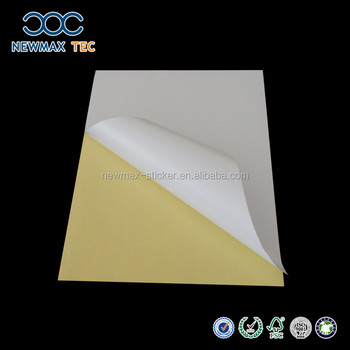 Self adhesive Peel off woodfree offset laminated paper sticker