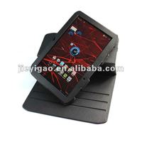 360 rotation leather case for new arrival Motorola XYBOARD 10.1