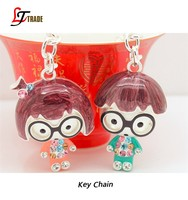 wholesale custom doll metal key chain metal keychain