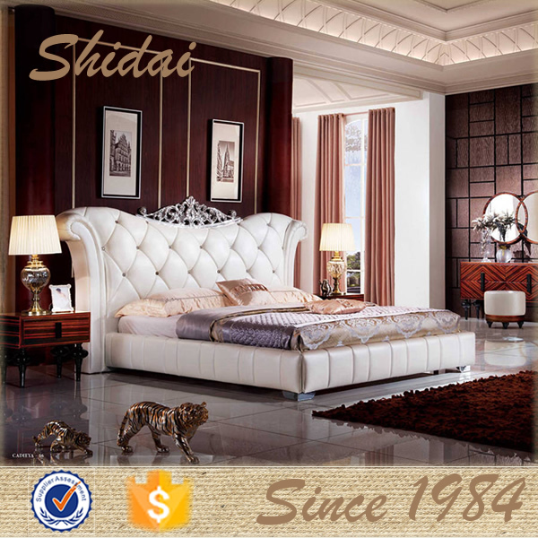 modern latest dubai bedroom furniture / modern latest queen size bed / modern latest queen bed B9023