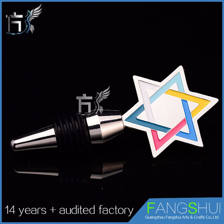 Metal decorative personalized wine bottle stoppers promotion wholesale