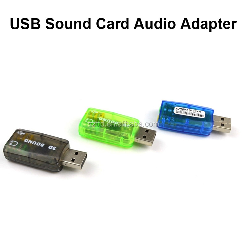 3D USB Sound Card Mic Speaker Extenal Sound Card Audio Adapter Virtual Channel for PC Laptop