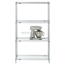 1C-Heavy Duty 4 Tiers Commercial Chrome Wire Steel Shelving- Full Sizes Available