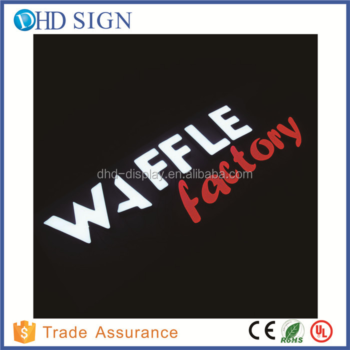 outdoor electronic company signs ,advertising led facelit shop logo