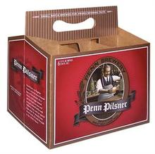 Custom Printed 4 Pack or 6 Pack Cardboard Carriers (10,000 piece minimum starting at .72 cents each.)