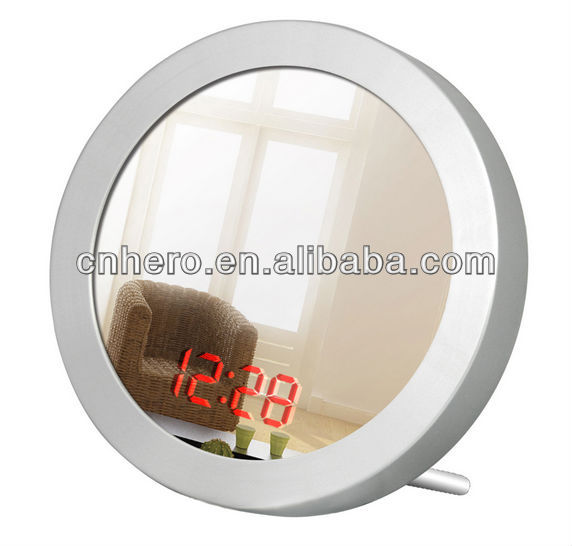 Beauty bathroom decorative mirror table clock