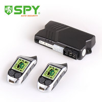 SPY 2 way car alarm, rechargeable remote controller car alarm system with green background LCD screen