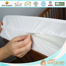 Breathable Full Protection Mattress Protector Terry Cotton Cozy Mattress Encasement Zippered 3 Sides Crib Mattress Cover