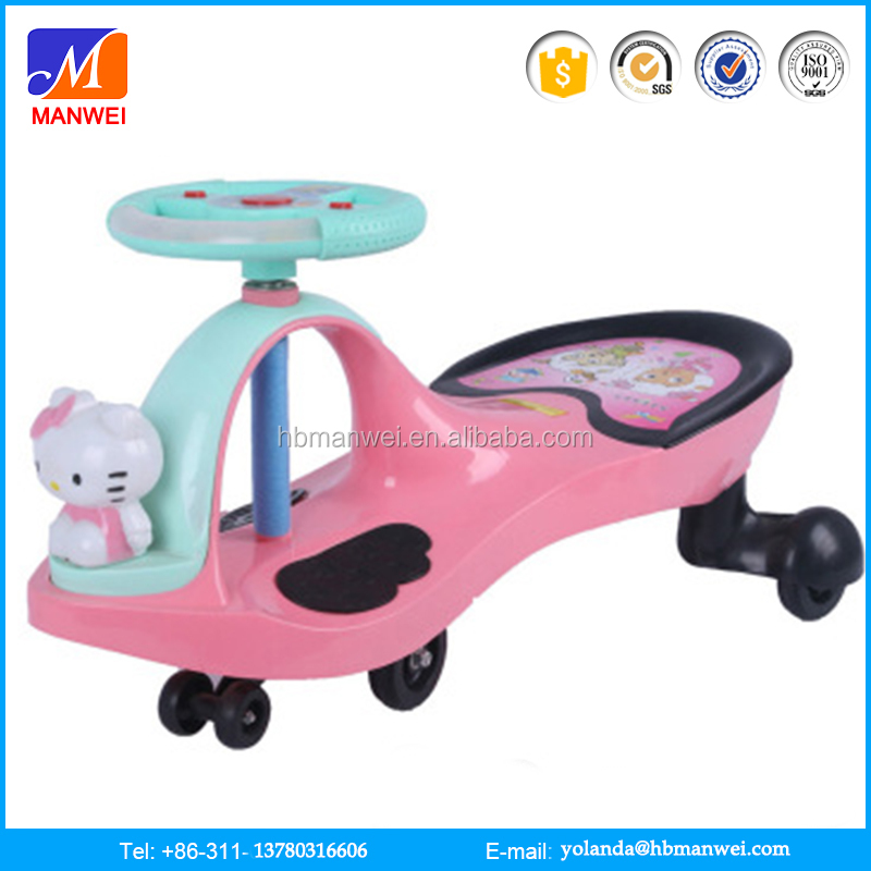new products plastic Steering wheel Swing car Baby walker ride on car made in China