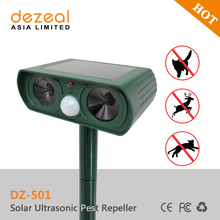Animal repellent ultrasonic pest repeller,solar animal repeller,ultrasonic cat repeller China supplier