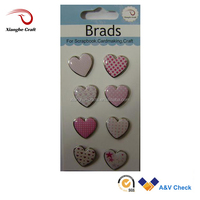 Wholesale Scrapbook love Heart shaped epoxy brads for Wedding card