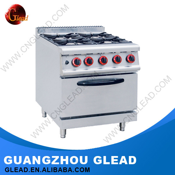 Luxury Stainless Steel Ss #304 Induction 4 Gas Burners Free Standing Gas Cooker