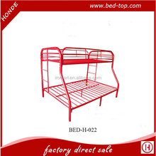 Red Black White Colorful Double Decker Queen Single Size Triple Metal Bunk Bed Y