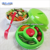 Best Quality BPA free Plastic On the Go Salad Bowl Set