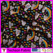 Custom print lycra cotton stretch fabric,cotton printed fabric for children