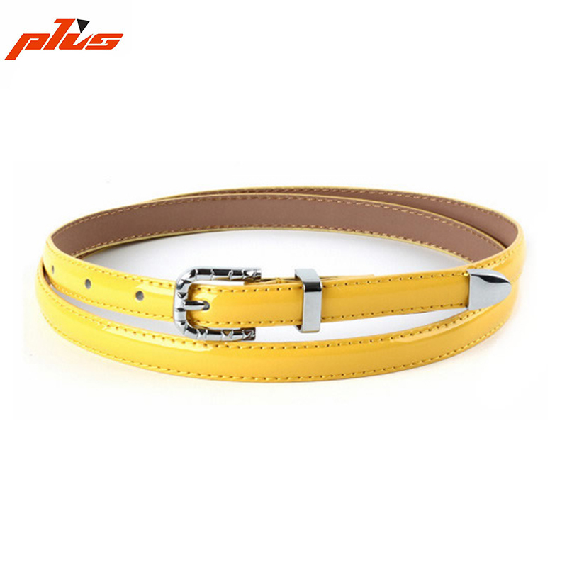 Korean Version of the Simple Patent PU Leather Decorated Belting Belt for Dress