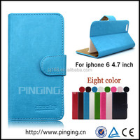 Simple wallet design leather cover flip case for Iphone 5C
