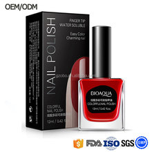 Bioaqua non-toxic healthy private label fast drying gel effect mood peel off nail polish