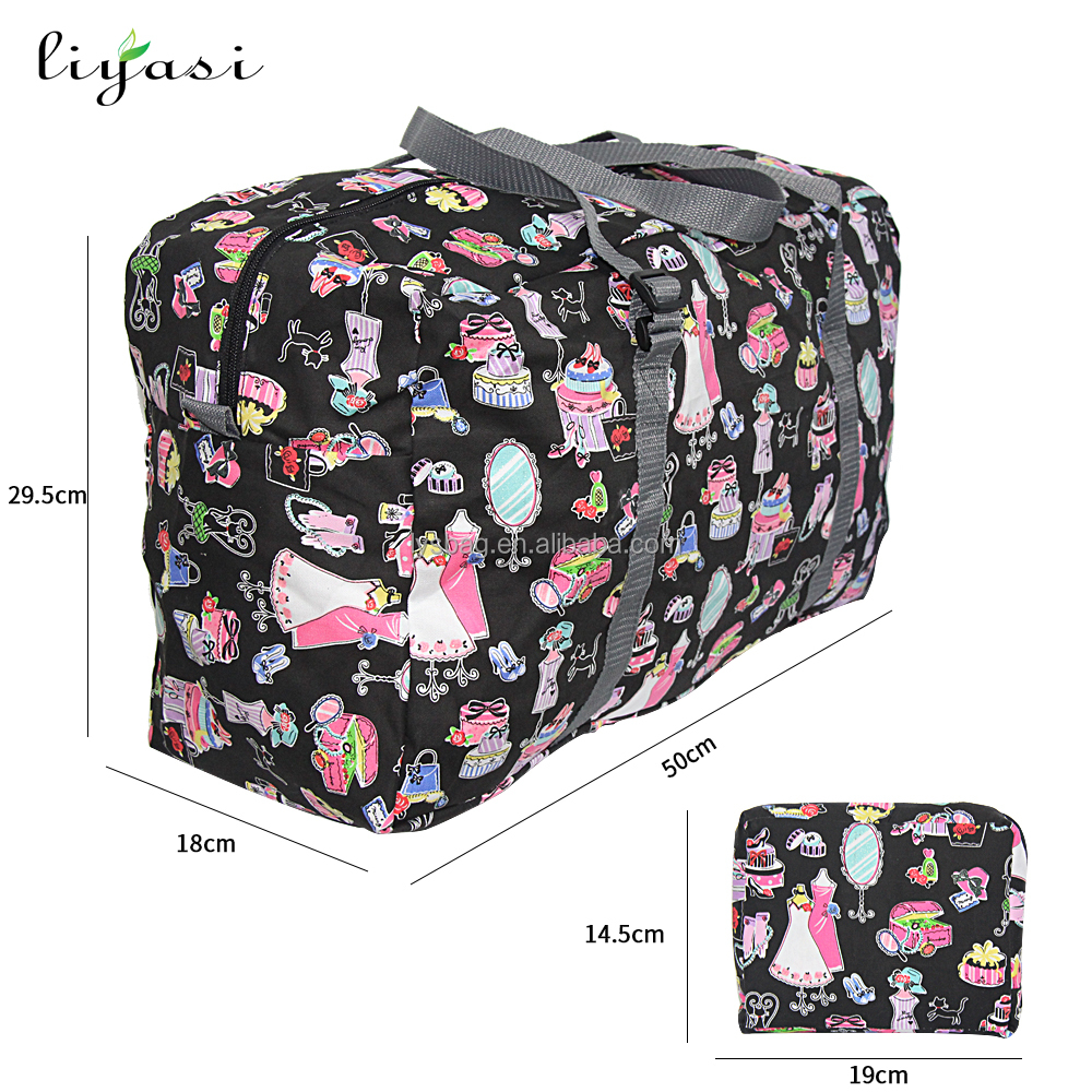 New product factory custom lightweight big large vogue tote foldable folding luggage travel bag