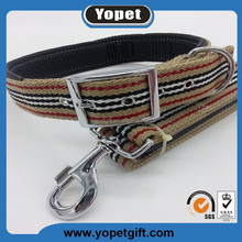 Wholesale Personalized Custom Print Logo Pure Nylon Pet Dog Collars And Leash Factory