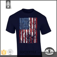 factory price fantastic soft custom print t-shirt with leather sleeves