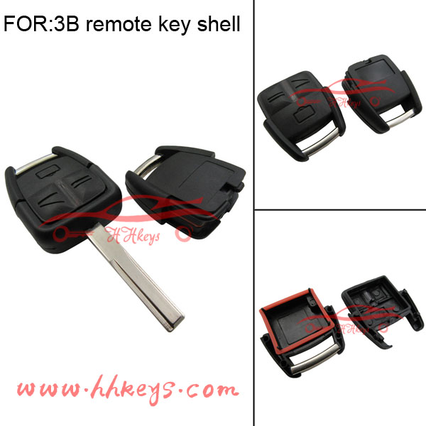 Opel Blank Key Accessories Uncut HU43 Remote Key Shell Case for OPEL VAUXHALL Vectra Zafira Omega Astra 3 Button