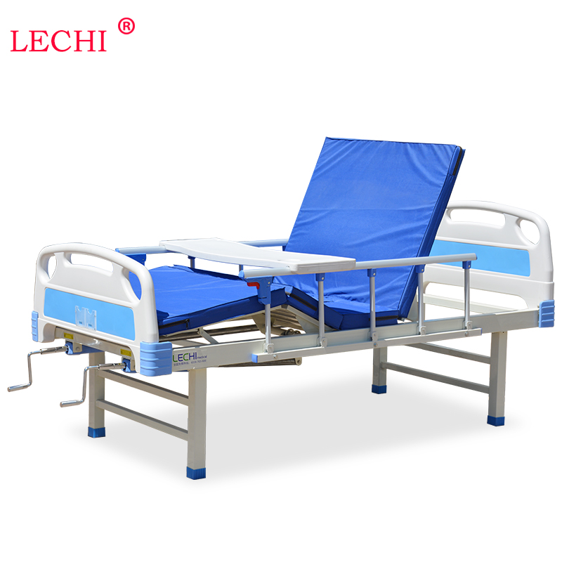 Double rocking back manual nursing bed