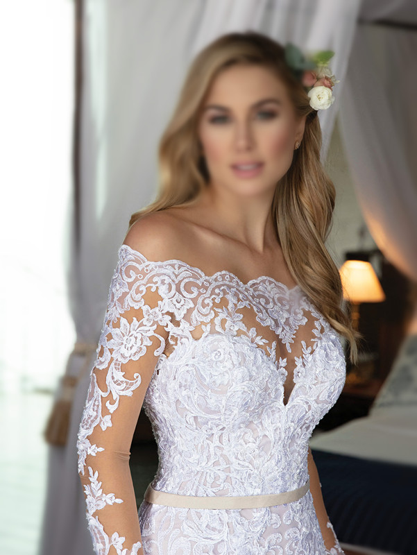 Off-Shoulder Wedding Dresses African Mermaid Wedding Gowns Sexy Lace Bridal Gowns 2019 Ball Gown Bridal Dresses