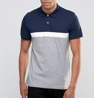 Top Sale Polo With Various Sizes Short Sleeve Colour Block Polo Shirt For Men