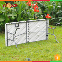 HDPE Top Steel Base Plastic Material and Outdoor Furniture General Use White Plastic Folding Table