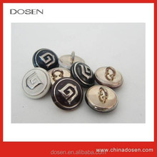 High quality nice design zamak material metal button sewing for clothing/boton de metal para la ropa