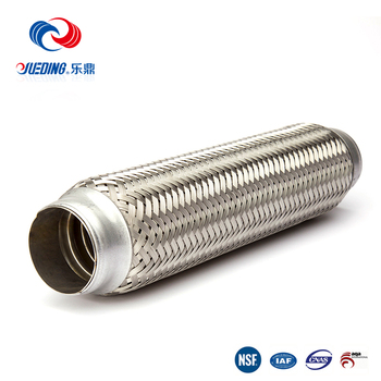 ISO standard car auto muffler, stainless steel exhaust flexible pipe