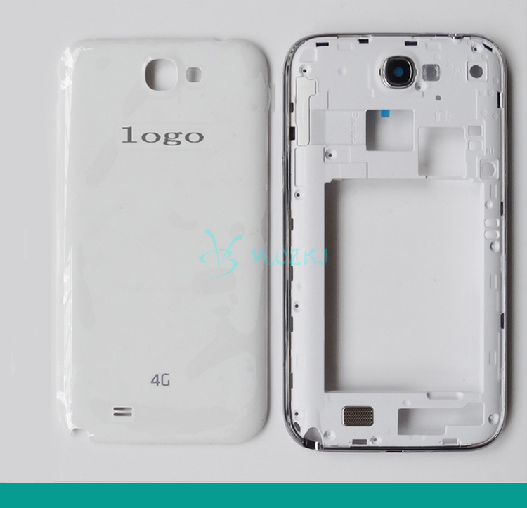 For Samsung Galaxy Note 2 Note2 N7105 Rear Housing Mid Middle Frame Bezel + Back Cover Housing Battery Door