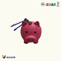 Pu anti-stress little pink pig toy for kids