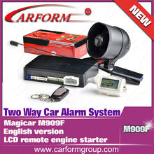 Factory supply in stock LCD remote engine starter MAGICAR SCHER-KHAN M909F English version Two Way Car Alarm System