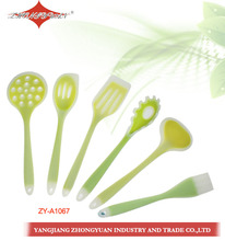 6PCS Hot sale non stick wholesale Korean silicone kitchenware/spatula